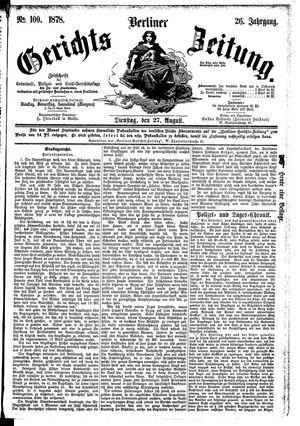 Berliner Gerichts-Zeitung vom 27.08.1878