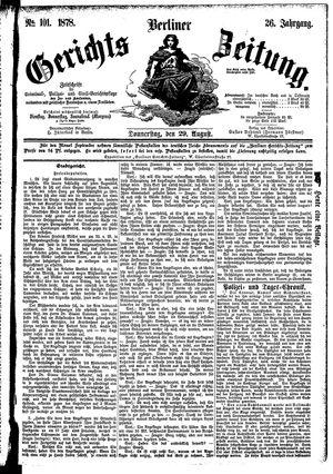 Berliner Gerichts-Zeitung vom 29.08.1878
