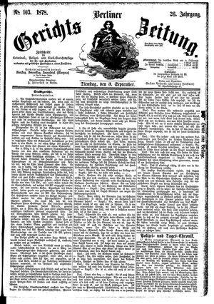 Berliner Gerichts-Zeitung vom 03.09.1878