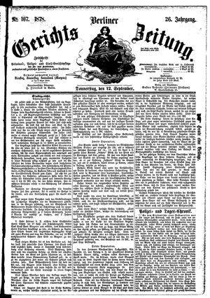 Berliner Gerichts-Zeitung vom 12.09.1878
