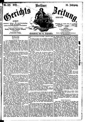 Berliner Gerichts-Zeitung vom 14.09.1878