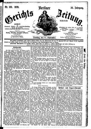 Berliner Gerichts-Zeitung vom 17.09.1878