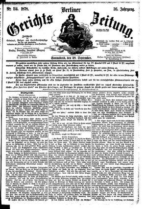 Berliner Gerichts-Zeitung vom 28.09.1878