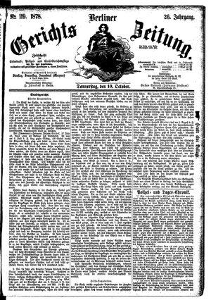 Berliner Gerichts-Zeitung vom 10.10.1878