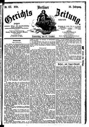 Berliner Gerichts-Zeitung vom 17.10.1878