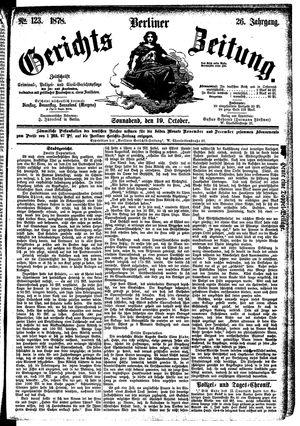 Berliner Gerichts-Zeitung vom 19.10.1878