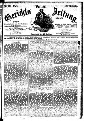Berliner Gerichts-Zeitung vom 26.10.1878
