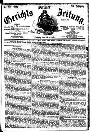 Berliner Gerichts-Zeitung vom 29.10.1878