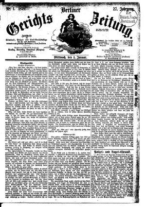 Berliner Gerichts-Zeitung vom 01.01.1879