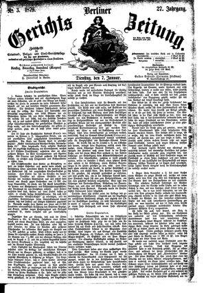 Berliner Gerichts-Zeitung vom 07.01.1879