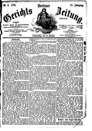 Berliner Gerichts-Zeitung vom 09.01.1879