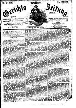 Berliner Gerichts-Zeitung vom 14.01.1879
