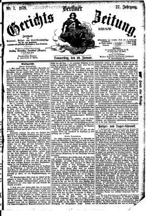 Berliner Gerichts-Zeitung vom 16.01.1879