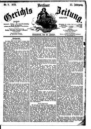 Berliner Gerichts-Zeitung vom 18.01.1879