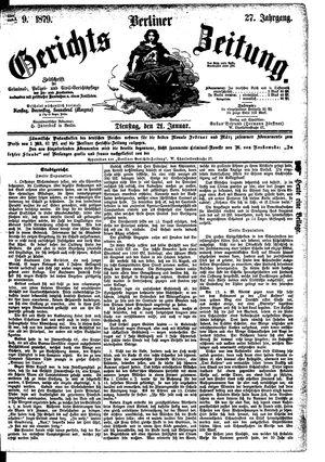 Berliner Gerichts-Zeitung vom 21.01.1879