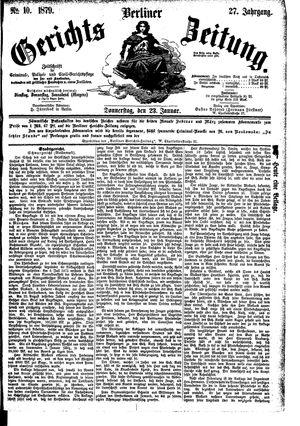 Berliner Gerichts-Zeitung vom 23.01.1879