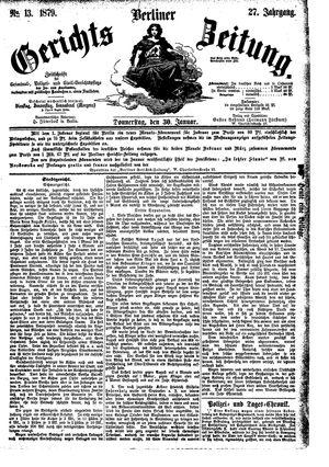 Berliner Gerichts-Zeitung vom 30.01.1879