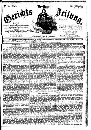 Berliner Gerichts-Zeitung vom 01.02.1879