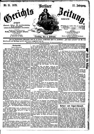 Berliner Gerichts-Zeitung vom 04.02.1879