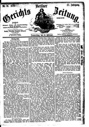 Berliner Gerichts-Zeitung vom 06.02.1879