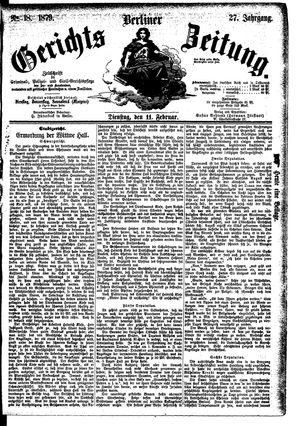 Berliner Gerichts-Zeitung vom 11.02.1879
