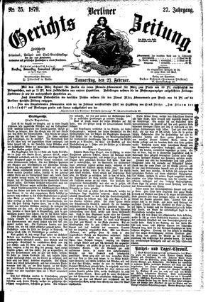 Berliner Gerichts-Zeitung vom 27.02.1879
