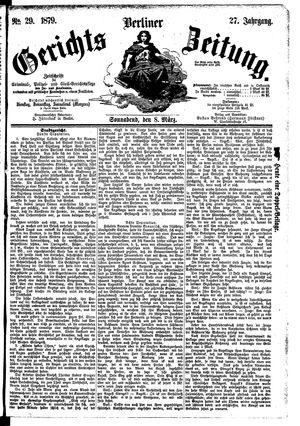 Berliner Gerichts-Zeitung vom 08.03.1879