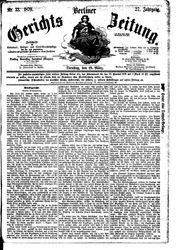 Berliner Gerichts-Zeitung (18.03.1879)
