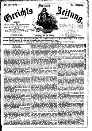 Berliner Gerichts-Zeitung vom 18.03.1879
