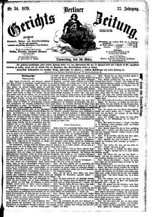 Berliner Gerichts-Zeitung vom 20.03.1879