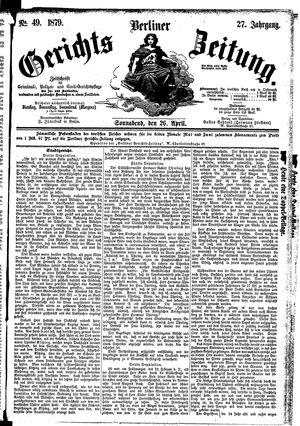 Berliner Gerichts-Zeitung vom 26.04.1879