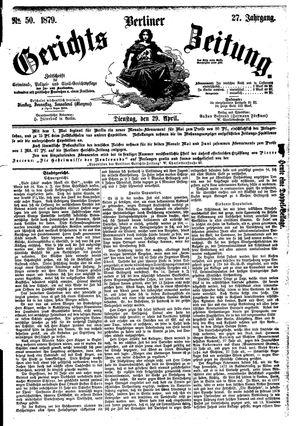 Berliner Gerichts-Zeitung vom 29.04.1879