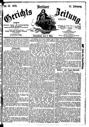 Berliner Gerichts-Zeitung vom 03.05.1879