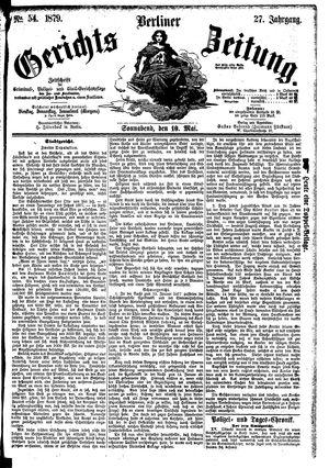 Berliner Gerichts-Zeitung vom 10.05.1879