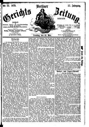 Berliner Gerichts-Zeitung vom 13.05.1879