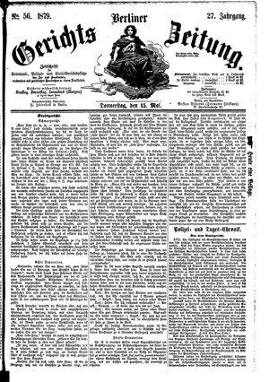 Berliner Gerichts-Zeitung vom 15.05.1879