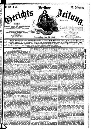 Berliner Gerichts-Zeitung vom 29.05.1879