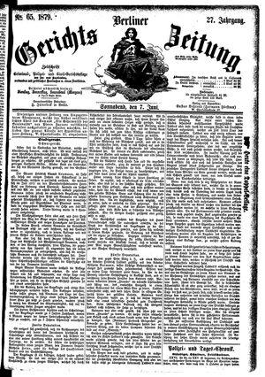Berliner Gerichts-Zeitung vom 07.06.1879