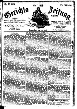 Berliner Gerichts-Zeitung vom 12.06.1879