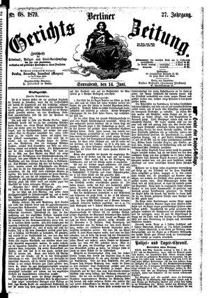 Berliner Gerichts-Zeitung vom 14.06.1879