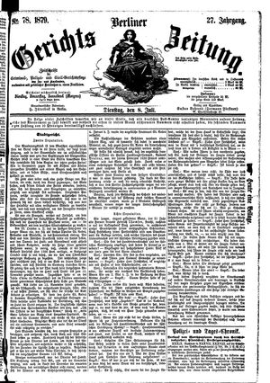 Berliner Gerichts-Zeitung vom 08.07.1879