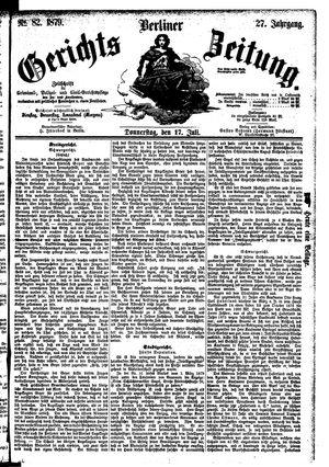 Berliner Gerichts-Zeitung vom 17.07.1879