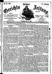 Berliner Gerichts-Zeitung (22.07.1879)