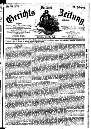 Berliner Gerichts-Zeitung vom 22.07.1879