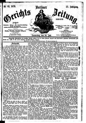 Berliner Gerichts-Zeitung vom 24.07.1879
