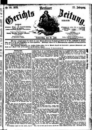 Berliner Gerichts-Zeitung vom 31.07.1879