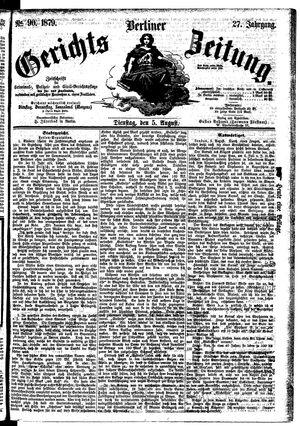 Berliner Gerichts-Zeitung vom 05.08.1879