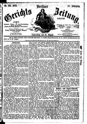 Berliner Gerichts-Zeitung vom 28.08.1879