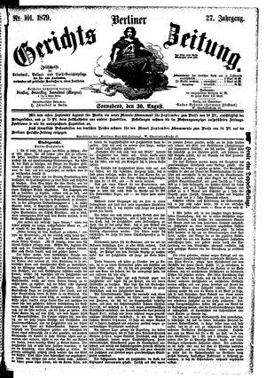 Berliner Gerichts-Zeitung vom 30.08.1879