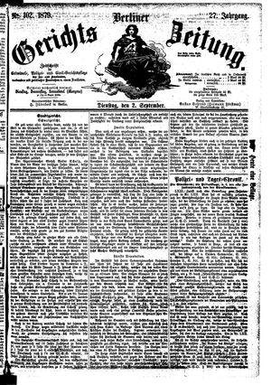 Berliner Gerichts-Zeitung vom 02.09.1879